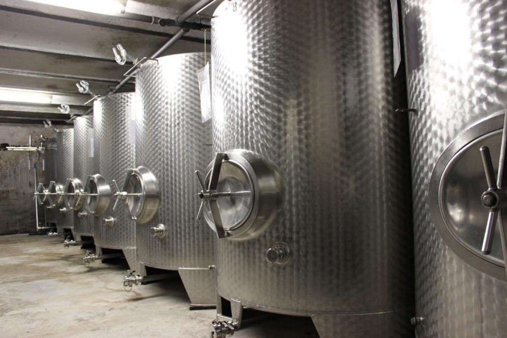 Stahltanks - Weingut Wagenmann